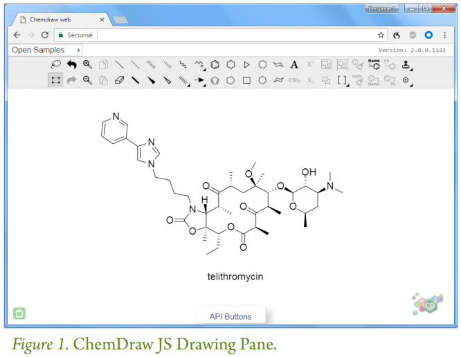 ChemDraw JS drawing pane