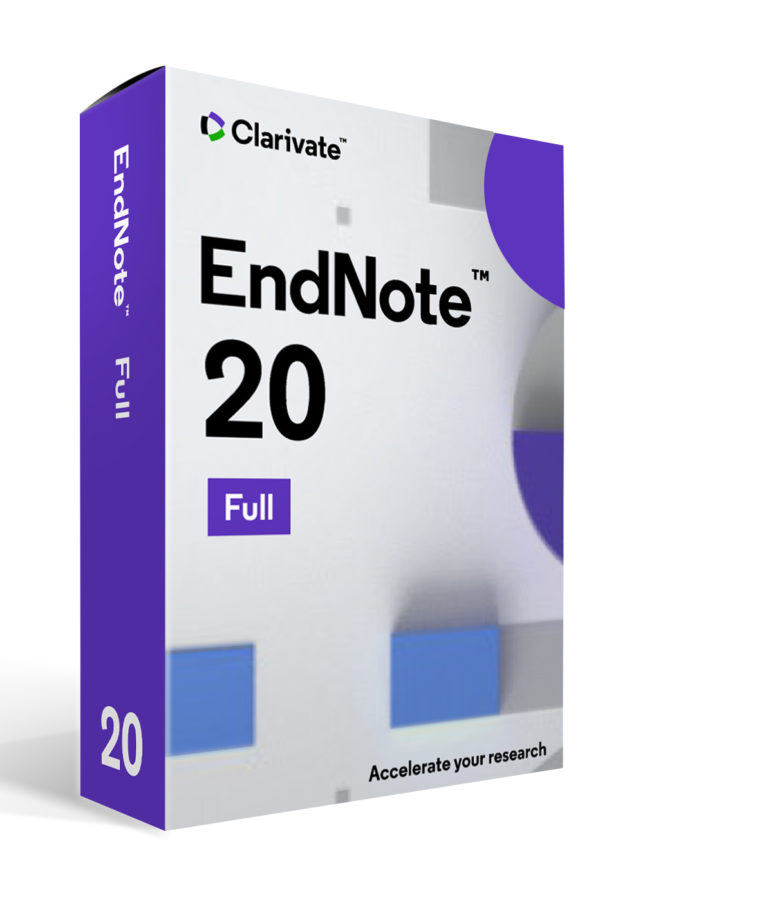 EndNote 20 The choice for scientific writing and reference management